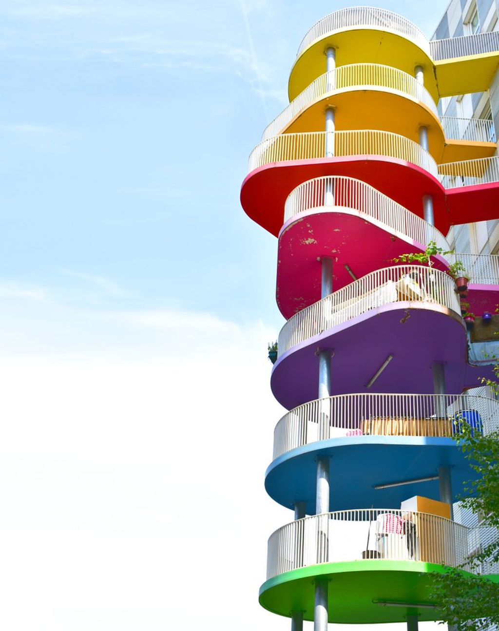 best colourful building balconies by ash camas