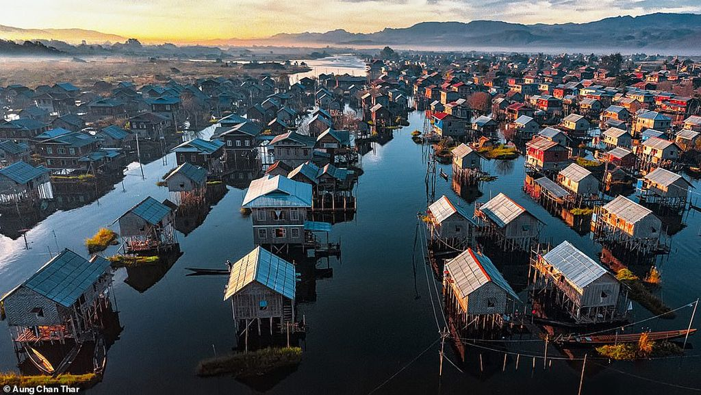 photography traditional house built inle lake myanmar by aung chan thar