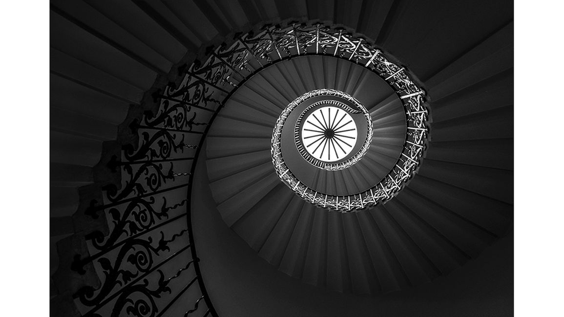black white photography photographer year 2020 spiral staircase jacqueline hammer