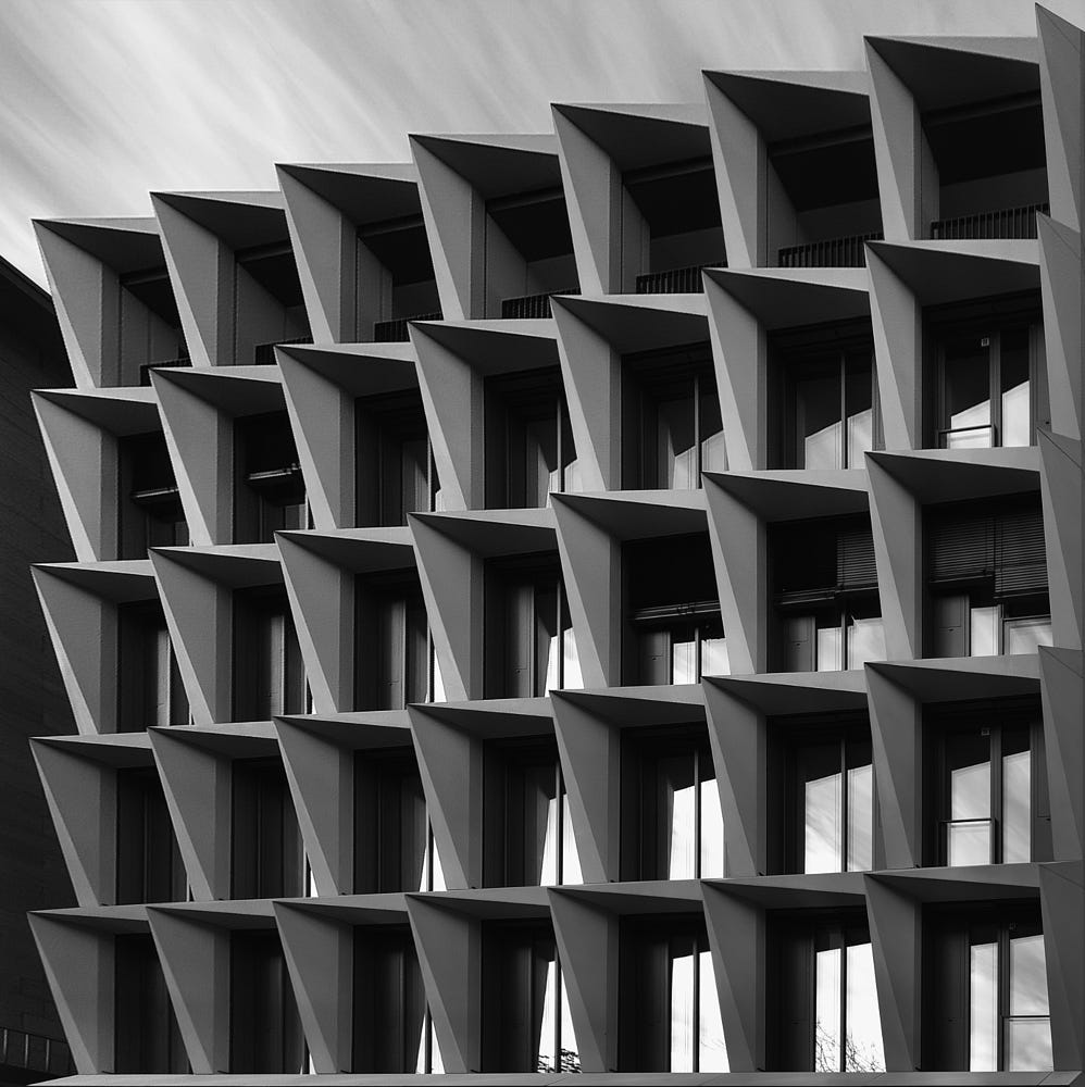 abstract photography building thorny facade by thomasz